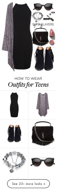 """""""Spring Layers"""" by amrxo on Polyvore featuring New Look, Yves Saint Laurent, Bobbi Brown Cosmetics, cutecardigan and springlayers"""