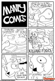 manly comics