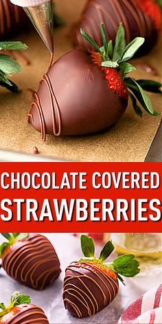 Chocolate Covered Strawberries: easy to make, and the perfect ending to a romantic date-night-in. Chocolate Covered Strawberries: easy to make, and the perfect ending to a romantic date-night-in. Strawberry Dip, Strawberry Recipes, Strawberry Shortcake, Making Chocolate Covered Strawberries, Chocolate Dipped Fruit, Delicious Desserts, Dessert Recipes, Blackberry Syrup, How To Make Chocolate
