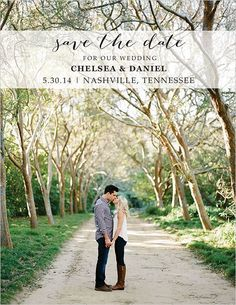 10 Incredible Wedding Save The Dates! Love this one from the wedding chicks