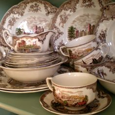 English Brown Transferware