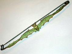 Art nouveau bat shawl pin.