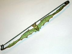 Art nouveau bat shawl pin.