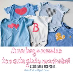 No-Sew Baby Appliques