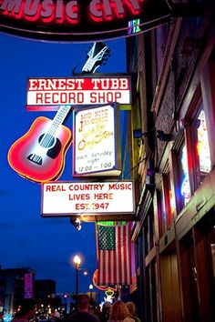 Nashville,Tennessee. We actually went in & looked around at Ernest Tubs Record Shop.This is where the real Loretta Lynn & Sissy Spacek playing Lorretta Lynn in The Cold Miners Daughter recorded music. We also walked up & down music row in Nashville. We saw a little bit of everything going on here. Fun but CRAZY!!