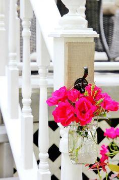 diy hanging mason jar vase