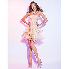 una línea primicia vestido de cóctel de gasa corta / mini (722.112) – MXN $ 1,911.44