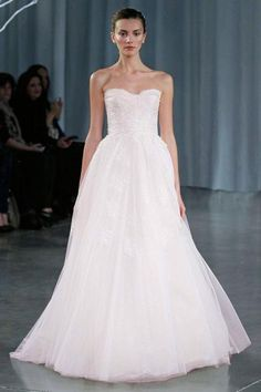 Pink Monique Lhuillier Fall 2013 Bridal Collection