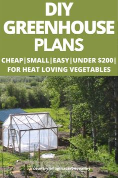 Great DIY budget greenhouse plans and step by step instructions. Grow vegetables in a small greenhouse. Great part of a backyard reno. Diy Greenhouse Plans, Small Greenhouse, Growing Herbs, Growing Vegetables, Cheap Raised Garden Beds, Backyard Farming, Garden Images, Grow Your Own Food, Diy On A Budget