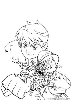Ben 10 Coloring Pages Print Free In Pdf