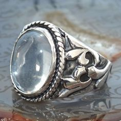 Silver Ring Moonstone Men Sterling 925 Mens Jewelry unique handcrafted #KaraJewels #Handmade
