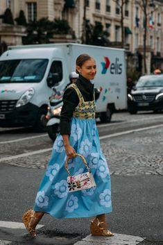 Fashion 2020, Paris Fashion, Fashion Photo, Spring Fashion, Fashion Trends, Khadra, Romper With Skirt, Street Style, Street Chic