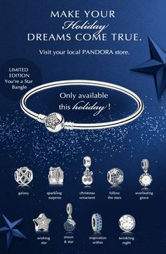 Building your Pandora Christmas bracelet is so much fun!