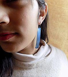 titanium earringsblue earringslight earringslong by atermono Blue Earrings, Hoop Earrings, I Shop, Gift Ideas, Etsy, Gift Tags