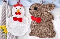 Mesmerizing Crochet an Amigurumi Rabbit Ideas. Lovely Crochet an Amigurumi Rabbit Ideas. Crochet Easter, Easter Crochet Patterns, Crochet Bunny Pattern, Potholder Patterns, Crochet Rabbit, Crochet Potholders, Crochet Amigurumi, Filet Crochet, Crochet Toys