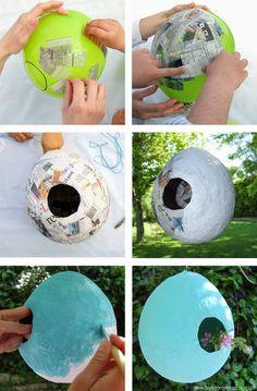Técnicas para modelar: #Cartapesta Nido para grullas