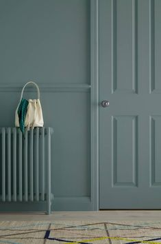 Add extras, such as painting your entire radiator to really get that on trend overall finished look. our hall & stairs range can be used on walls, woodwork Painted Radiator, Painted Stairs, Painted Doors, Hallway Paint, Room Paint, Skirting Board Paint, Coloured Skirting Boards, Wall Colors, Paint Colors