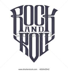 Rock music print, hipster vintage label, graphic design, exclusive font, tee print stamp. t-shirt lettering artwork, Vector illustration in flat, cartoon style isolated from the background, EPS 10