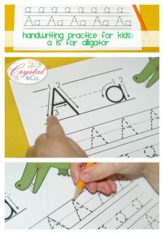 handwriting practice for kids preschool a is for alligator 2