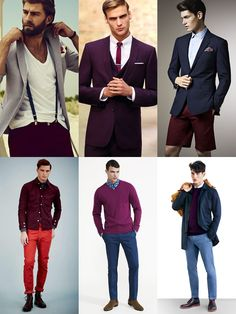 Men's 2014 Spring/Summer Shades Of Red Colour Trend: Berry Shades Lookbook Inspiration