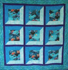 Undersea Attic Windows quilt by Catherine Wynne | Catherine Wynne Quilts