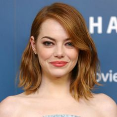 The Best Celebrity Long Bobs in theGame   Daily Makeover. I want Emma's hair colour. RIGHT. NOW.
