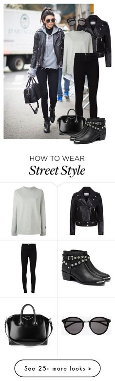 """Kendall Jenner"" by dubaileila on Polyvore featuring Sandro, NIKE, Frame, Givenchy, Senso and Yves Saint Laurent"