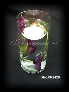 #purple calla lilies #wedding #centerpiece   I love this except change the purple ;)))
