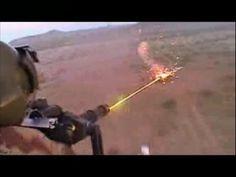 Helicopter Minigun in Action Firing Shooting Training Video Chopper Guns...