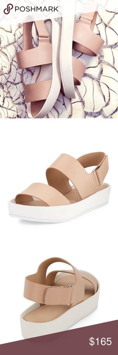 • SALE • VINCE   Marett Platform Sandal This is a re-posh. Super adorable leather sandal I so wish it would fit me but it's half size too small  Don't miss out this cutie!       Brand new condition with original box and dust bag  No trade please       Make me an offer  Vince Shoes Sandals