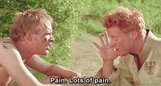 A Knight's Tale quotes  Wat: Uh, betray us, and I will fong you, until your insides are out, your outsides are in, your entrails will become your extrails I will w-rip… all the p… ung. Pain, lots of pain - by Movie Quotes