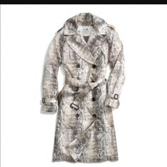 NWT!! Authentic Coach Python Multicolor Trench. Sold out in stores ! Brand new with tags.  Gorgeous Authentic Coach trench with adjustable belt. The perfect spring jacket.  Coach Jackets & Coats
