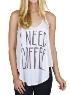 I Need Coffee Rebel Tank - Women's New Arrivals - Tanks - Junk Food Clothing