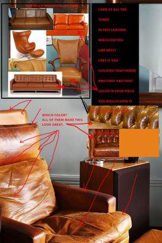 Decisions Christy Gorman Leather Sofa Color Decision