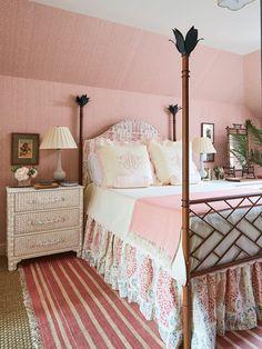 Girl's Room Pink Bedroom Walls, Pink Room, Home Bedroom, Girls Bedroom, Bedroom Decor, Bedroom Ideas, Beach Bedrooms, Guest Bedrooms, Home Decor Styles