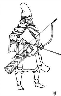 Georgian archer of the centuries by MegruliGuy on DeviantArt Types Of Armor, Military Costumes, Historical Art, 12th Century, Armenia, Byzantine, Archer, Georgian, Warfare