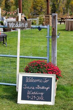 chalkboard sign and make wedding arrow signs