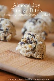 Almond Joy Energy Bites (No bake and Gluten Free) - The Sweet {Tooth} Life