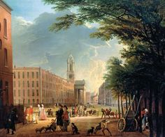 Elias Martin, 'View of Hanover Square', 1769. Image at Yale Books.