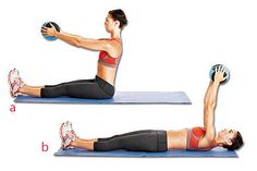 Pilates: Roll Back with a Ball