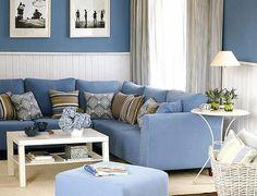 salones con paredes azules - Google Search