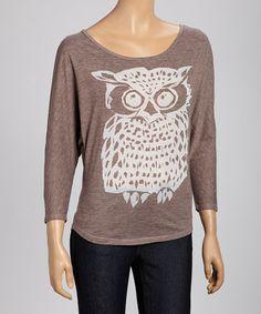 Mocha Owl Tee #zulily #zulilyfinds