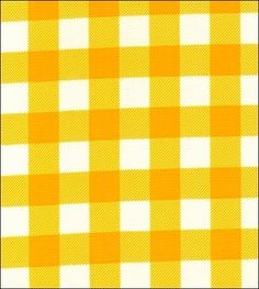 Large Gingham print in yellow oilcloth. Picnic classic!