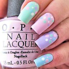 Pastel Nails: 35 Creative Pastel Nail Art Designs - Part 23 Fancy Nails, Trendy Nails, Cute Nails, My Nails, Easter Nail Designs, Nail Art Designs, Pastel Designs, Nails Design, Spring Nail Art