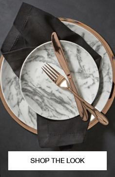 This beautiful rose gold cutlery set is stainless steel and adds a touch of elegance from formal to informal dinners.