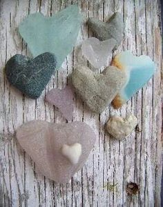 heart sea glass. I just died. :D