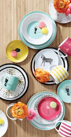 "If this dinnerware set doesn't scream ""fun,"" we don't know what does! The bright colors and cute designs of Martha Stewart's Whim collection couldn't be more perfect for summer entertaining. Shop now!"