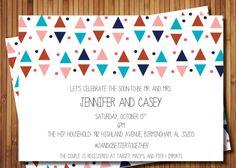 Triangles Shower Invitation on Etsy, $15.00
