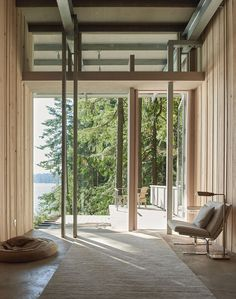 Cabin at Longbranch by Jim Olson Photo by Kevin Scot - Architecture and Home Decor - Bedroom - Bathroom - Kitchen And Living Room Interior Design Decorating Ideas - Interior Exterior, Interior Architecture, Seattle Architecture, Architecture Student, Interior Doors, Interior Design, Timber Cabin, Photo Deco, Forest Cabin