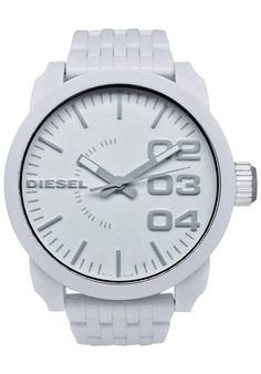 diesel mens mega chief white leather stainless steel watch dz4292 white diesel watches for men explore wearable watches here to smart gear and wearables